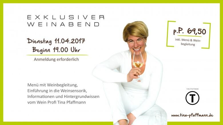 Exklusiver Weinabend mit Tina Pfaffmann